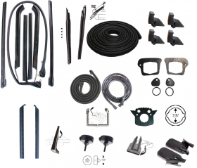 1970 Cadillac Deville Convertible Advanced Rubber Weatherstrip Kit (38 Pieces) REPRODUCTION Free Shipping In The USA