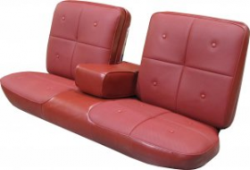 1967 Cadillac Deville Front Seat Covers (Vinyl)  Bench Seat With Arm Rest REPRODUCTION Free Shipping In The USA