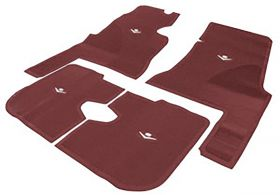 1959 1960 Cadillac 4-Door Maroon Rubber Floor Mats (4 Pieces) REPRODUCTION Free Shipping In The USA