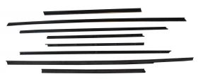 1963 Cadillac 2-Door Coupe Window Sweep Set (8 Pieces) REPRODUCTION Free Shipping In The USA