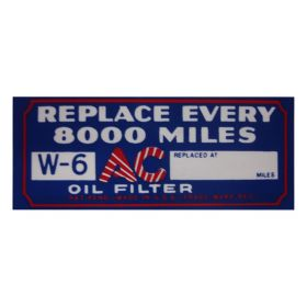 1933 1934 1935 1936 Cadillac Oil Filter Decal REPRODUCTION