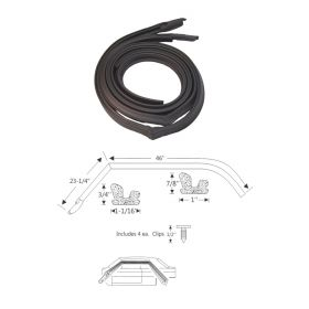 1967 1968 Cadillac Calais and Deville 2-Door Hardtop Coupe Roof Rail Weatherstrips 1 Pair REPRODUCTION Free Shipping In The USA