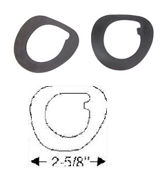 1959 Cadillac Series 62 and DeVille (See Details) Windshield Wiper Escutcheon Pads 1 Pair REPRODUCTION