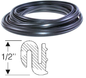 1941 1942 1946 1947 1948 Cadillac 12-Foot Window Pinchweld Seal Rubber Weatherstrip REPRODUCTION Free Shipping In The USA