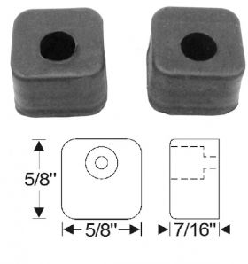 1948 1949 Cadillac Front Door Rubber Bumpers 1 Pair REPRODUCTION Free Shipping In The USA