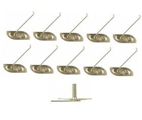 Cadillac Molding Clips Set (3/4 Inch Bolt 1-11/32 Inch Long Plate) (10 Pieces) REPRODUCTION