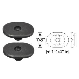 1941 1942 1946 1947 1948 Cadillac Series 62 Convertible Door Bottom Rubber Plugs 1 Pair REPRODUCTION Free Shipping In The USA
