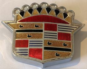 1950 1951 Cadillac Trunk  Emblem Crest And Bezel NOS Free Shipping In The USA