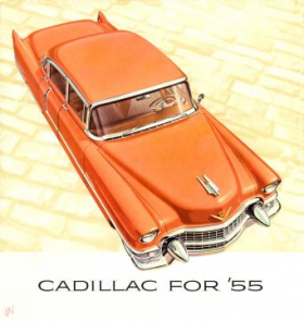 1955 Cadillac Full-Line Sales Brochure NOS Free Shipping In The USA