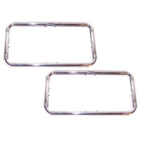 1935 1936 1937 1938 1939 1941 1942 1946 1947 1948 1949 1950 1951 1952 1953 1954 Cadillac Chrome License Plate Frames 1 Pair REPRODUCTION Free Shipping In The USA