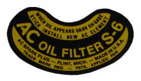 1948 1949 Cadillac Oil Filter Decal REPRODUCTION