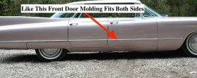 1960 Cadillac Sedans 4 door models Left or Right Front Door Trim Molding NOS Free Shipping In The USA