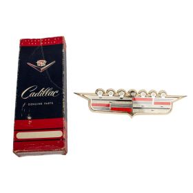 1958 Cadillac Hood Crest and Bezel New Old Stock Free Shipping In The USA