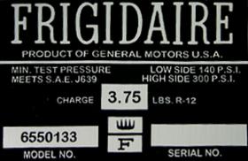 1965 Cadillac Air Conditioner Compressor Box Decal REPRODUCTION