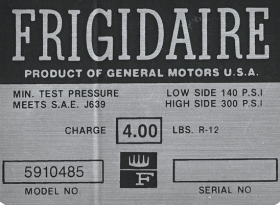 1963 1964 Cadillac Air Conditioner Compressor Warning Decal REPRODUCTION