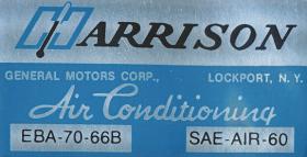 1966 Cadillac Air Conditioner Evaporator Box  Decal REPRODUCTION