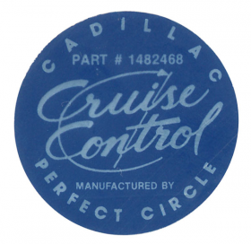 1963 1964 1965 Cadillac Cruise Control Decal REPRODUCTION