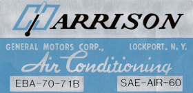 1971 Cadillac Harrison Air Conditioning Evaporator Box Decal  REPRODUCTION