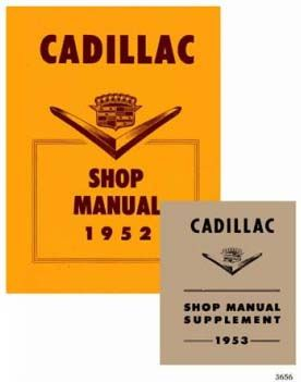 1952 1953 Cadillac Service Manual CD REPRODUCTION Free Shipping In The USA