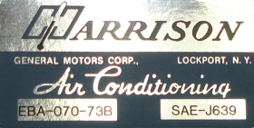 1973 Cadillac Harrison Air Conditioning Evaporator Box Decal  REPRODUCTION