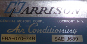 1974 Cadillac Harrison Air Conditioning Evaporator Box Decal  REPRODUCTION