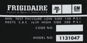 1974 1975 1976 Cadillac Air Compressor Decal  REPRODUCTION
