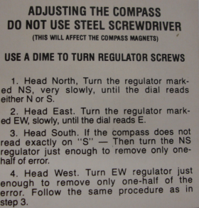 1937 1938 1939 1940 1941 1942 1946 1947 1948 1949 Cadillac Glove Box Door Compass Instruction Tag REPRODUCTION