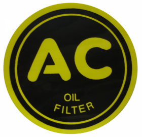 "1937 1938 1939 1940 1941 1942 1946 1947 Cadillac Oil Filter Decal 2 1/4 "" REPRODUCTION"