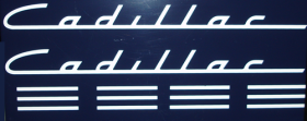 1949 1950 1951 1952 Cadillac White Lettering Valve Cover Decal REPRODUCTION