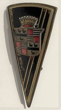 1936 1937 Cadillac Hood & Trunk Emblem V8 Models Used Free Shipping In The USA