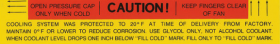 """1965 1966 1967 Cadillac Cooling System """"Caution"""" Decal REPRODUCTION"""