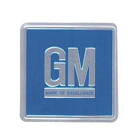 1967 1968 1969 1970 Cadillac GM Mark Of Excellence Metal Door Plate Tire Pressure Decal REPRODUCTION