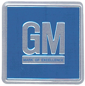 1967 1968 1969 1970 Cadillac GM Mark Of Excellance Metal Door Plate Tire Pressure Decal REPRODUCTION