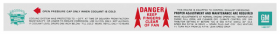 1968 1969 Cadillac Emission Coolant Fan Warning Decal REPRODUCTION