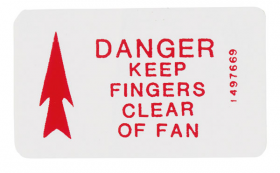 1970 Cadillac Caution Fan Decal REPRODUCTION