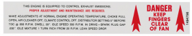 1970 Cadillac (Eldorado ONLY) Emission Fan Warning Decal REPRODUCTION