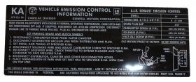 1972 Cadillac All Models (Except Eldorado) 472 C.I. Emission  Decal REPRODUCTION