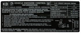 1972 Cadillac Eldorado Only 500  C.I. Emission  Decal REPRODUCTION