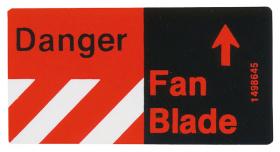 1976 Cadillac Eldorado Fan Caution Decal REPRODUCTION