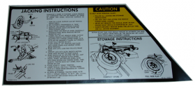 1980 1981 1982 1983 Cadillac Seville Jacking Instructions Decal REPRODUCTION
