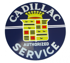 Vintage Look Cadillac Dealership Authorized Service Decal 11.5 Inches REPRODUCTION