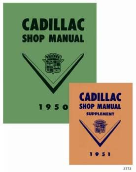 1950 1951 Cadillac All Models Service Manual CD REPRODUCTION Free Shipping In The USA