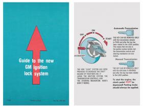 "1969 1970 1971 1972 Cadillac Ignition Lock Instructions 7"" Sun Visor Sleeve REPRODUCTION"