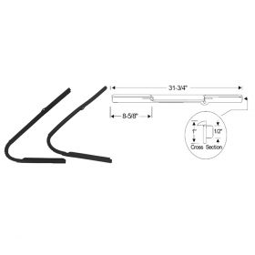 1934 1935 1936 Cadillac (See Details) Front Vent Window Rubber Weatherstrips 1 Pair REPRODUCTION Free Shipping In The USA