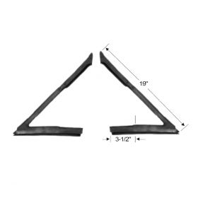 1963 1964 Cadillac 2-Door Hardtop Coupe (See Details) Vent Window Rubber Weatherstrips 1 Pair REPRODUCTION Free Shipping In The USA