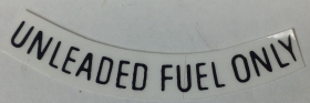 Cadillac Unleaded Fuel Only Black 3 Inches REPRODUCTION
