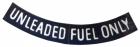 """Cadillac Unleaded Fuel Only White 3"""" REPRODUCTION"""