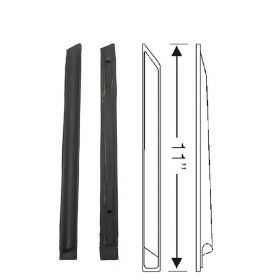 1959 1960 Cadillac 4-Door 6-Window Rear Body Lock Pillar Vertical Weatherstrips 1 Pair REPRODUCTION Free Shipping In The USA
