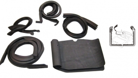 1952 1953 Cadillac Series 62 2-Door Hardtop and Convertible (See Details) Door Rubber Weatherstrip Set (10 Pieces) REPRODUCTION Free Shipping In The USA