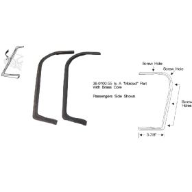 1959 1960 Cadillac 4-Door 6-Window (See Details) Front Door Vent Window Weatherstrips 1 Pair REPRODUCTION Free Shipping In The USA